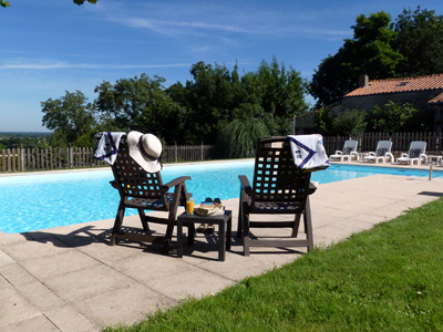 Relax by the Pool at Maison Lairoux